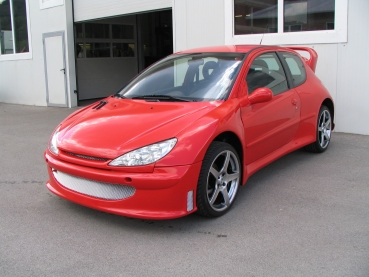 Wide-Bodykit Super 1600 - WRC Optik für Peugeot 206
