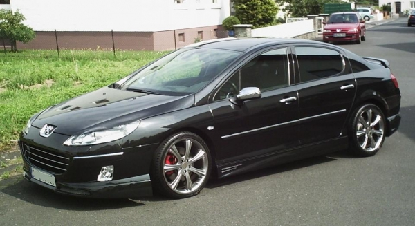 french power carstyling tuning frontspoiler f r peugeot 407. Black Bedroom Furniture Sets. Home Design Ideas